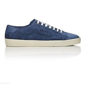 Saint Laurent Blue Suede Court Classic 38+ NEW